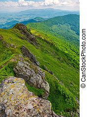 boulders along the mountain ridge. location Pikui mountain....