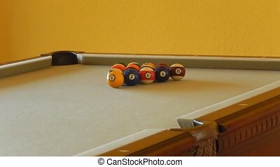boule billard, triangle, hd, agrafe