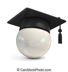 boule blanche, casquette, remise de diplomes