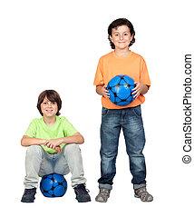 boule bleue, équipe foot