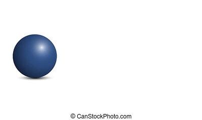 boule bleue, channel., 60, arrière-plan., fps, alpha, blanc, rouleaux