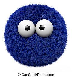 boule bleue, fourrure