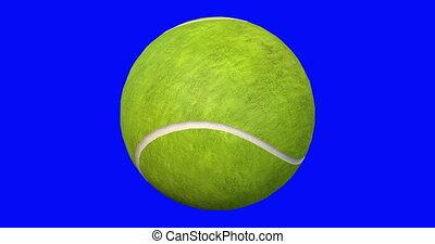 boule bleue, seamlessly, tennis, écran, tourne
