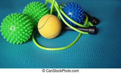 boule bleue, soi, myofascial, masage, reflexology, rouleau, sortie, masage