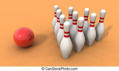 boule bowling, et, skittles