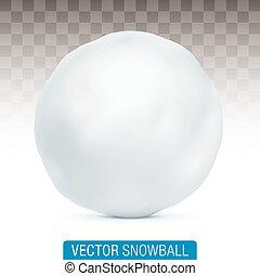 boule de neige, arrière-plan., vecteur, isolé