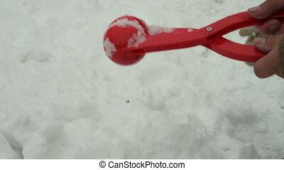 boule de neige, fabricant, gosse