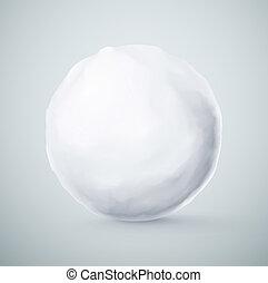 boule de neige, isolé