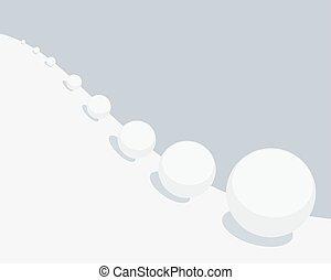 boule de neige, vecteur, effet, illustration