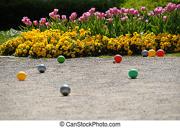 boule flowers - boccia game with flowers