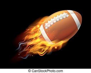 boule football américain, feu