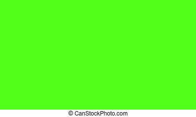 boule football, arrière-plan vert, transition