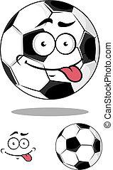 boule football, dessin animé, football, ou