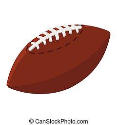 boule football, illustration, américain, dessin animé