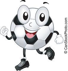 boule football, mascotte