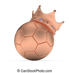 boule football, rendering., 3d, crown.