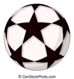 boule football, star., dessin animé, coloré