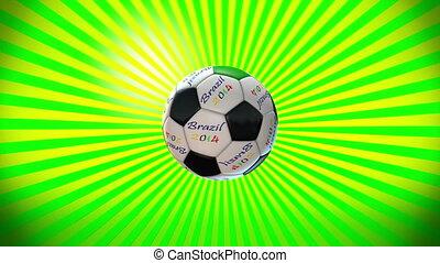 boule football, sunburst, 6