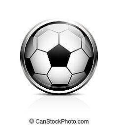 boule football, vecteur, icône