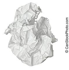 boule papier, chiffonné, déchets, frustration
