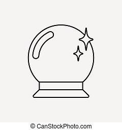 boule quartz, icône