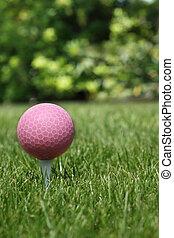 boule rose, golf