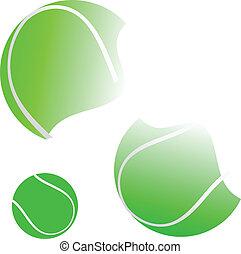 boule tennis, illustration