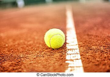 boule tennis, tribunal, argile