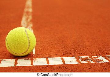 boule tennis, tribunal, copyspace