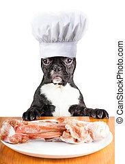 bouledogue, chien, francais