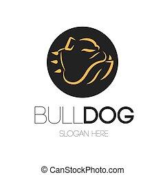bouledogue, logo, conception