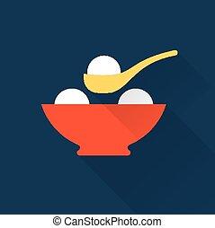 boules riz, icône