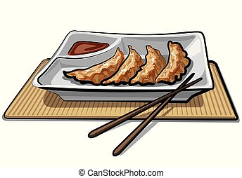 boulettes, sauce, chinois