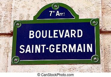 Boulevard Saint-Germain, Paris, France
