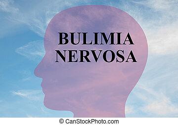 boulimie, concept, nervosa
