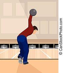Boulingist playing bowling