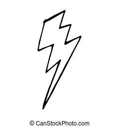 Vecteur isol clair ensemble illustration isolated - Eclaire dessin ...