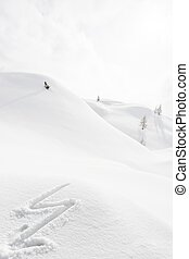 boulon foudre, neige