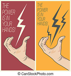 boulon, homme, électrique, main