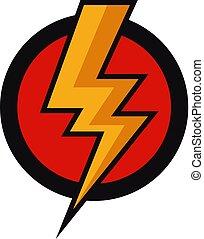boulon, vecteur, flash, icône
