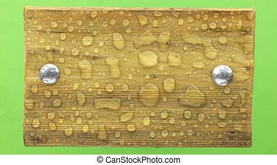 boulons, eau, fer, vent, secousses, planche, isolated., bois...