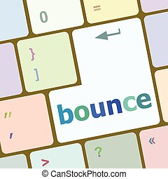 bounce button on computer pc keyboard key vector illustration
