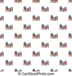 Bounce house pattern seamless