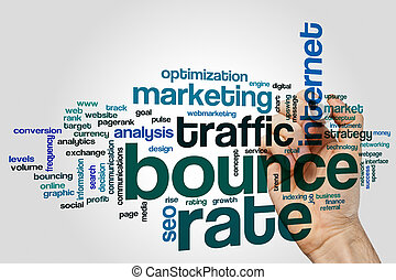 Bounce rate word cloud - Bounce rate concept word cloud...