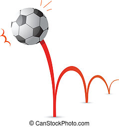 Bouncing ball cartoon - Bouncing soccer ball cartoon