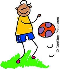 bouncing ball - little boy bouncing a ball