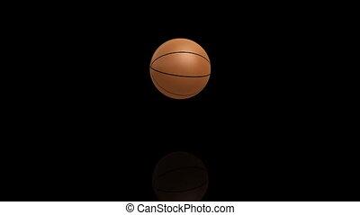 3D render bouncing basketball.