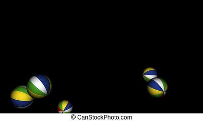 Bouncing Beach Balls