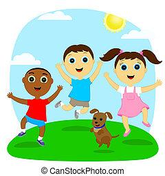 bouncing children