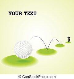Bouncing golf ball - Vector illustration of a bouncing golf...